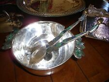 VERY RARE EMILIA CASTILLO SILVER PLATEADO DEEP SERVING BOWL W/MATCHING SERVERS