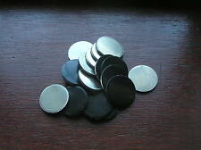 20 ALUMINIUM ROUND DISCS  32MM DIAMETER  X  1.5MM THICK FLY PRESSED PUNCHED