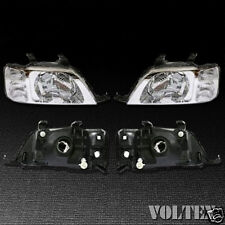 1997-2001 Honda CR-V Headlight Lamp Set of 2 Clear lens Halogen LH RH Pair
