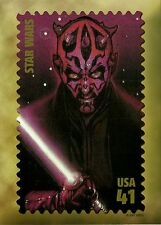 STAR WARS, DARTH MAUL, USPS JUMBO STAMP IMAGE POSTCARD & FDC