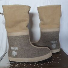 ZDAR Natural Sascha Handmade Wool/Sheepskin Snow Winter Boots US10 EU40 NEW $379