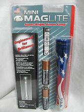 M2AAEH Maglite Mini Mag Patriotic USA Worklight Camping Flashlight 2 AA EB710124