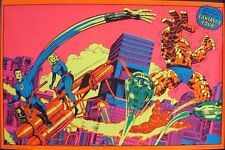 FANTASTIC FOUR WONDERFUL WORLD OF MARVEL THIRD EYE BLACK LIGHT poster Jack KIRBY