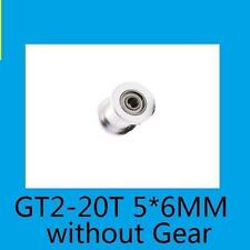 GT2 20T 5*6mm Tooth without Gear Pulley Aluminum Alloy Timing Belt 3D Printer