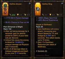 Diablo 3 RoS PS4 [SOFTCORE] - Modded Hellfire Amulet & Hellfire Ring!