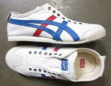 Asics Onitsuka Tiger Mexico 66 Slip-On White Tricolor size 10.5 -NEW RETRO-