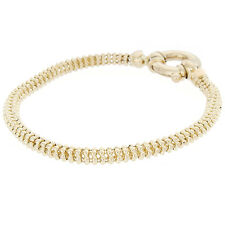 "14k Yellow Gold 4mm 7"" Beaded Bracelet-- 12.6g"