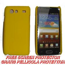 Pellicola+custodia BACK COVER RIGIDA GIALLA per Samsung I9070 Galaxy S Advance
