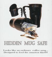 """Hidden Mug Diversion Stash Can Safe BLACK 6.5"""" Tall Coffee Drink secret storage"""