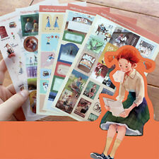 New 5 sheets daddy long legs Scrapbooking Diary Planner Paper Deco label Sticker