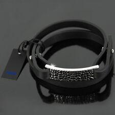 JOOP! Armband TEXTURE Lederband Herren Leder Schmuck Edelstahl JPBR10313A220 NEU