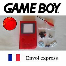 Coque GAME BOY fat original rourge crystal NEUF + triwing - étui shell case red