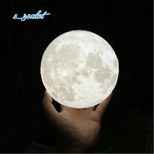 3D Printing Luna Night Light LED Moon Lamp Touch Control Lighting Kids Gifts 8cm