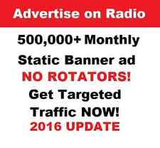 Unlimited website traffic Advertise your website on RADIO!  USA  SEO