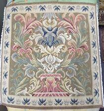 Antique 19 quater Aubusson français tissés à la main coussin tapisserie