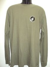 NEW VOLCOM SURF MEN STEPPED L/S KNITS TEE SHIRT M MEDIUM 17-35
