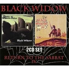 BLACK WIDOW - RETURN TO THE SABBAT + BLACK WIDOW IV - 2 ON 1 CD