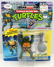 TMNT HEAD DROP PIN LEO TEENAGE MUTANT NINJA TURTLES 1991 W/ZOLO CASE UNPUNCHED