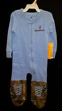 Browning Baby Union Cornflower Blue Suit Onesie Mossy Oak Camo 12 Month Gift