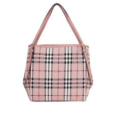 Burberry Small Canter Horseferry Check Tote - Ash Rose / Dusty Pink