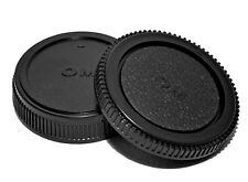 Olympus & Panosonic 4/3 E Mount Back Cap Rear Lens Cap Body Cap Set