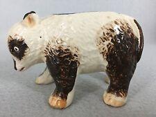 Vintage Small Panda Figurine Planter Occupied Japan Brown Cream