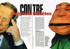 Coupure de presse clipping  084  1992  CANAL PLUS les GUIGNOLS (4 pages)