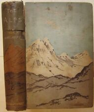 Prof. F. Umlauft * The Alps * Mountaineering 1889 first edition TWO FOLDOUT MAPS