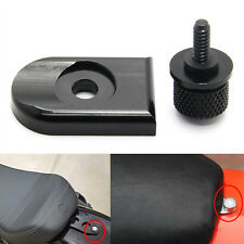 Black Seat Bolt Tab Screw Mount Knob Cover Kit For Harley Dyna Sportster Touring