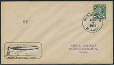 CANADA #R-100 ZEPPELIN COVER AUG 7,1930 BR1922