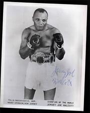 Vintage Jersey Joe Walcott Heavyweight Boxing Champ Signed 8x10 Photo!