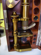 "ANTIQUE CARL ZEISS ""JENA""CIRCA 1885 MICROSCOPE & OBJECTIVES (SEE DESCRIPTION)"