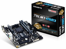 Gigabyte GA-78LMT-USB3.0 (per presa AM3 CPU) + AMD FX4350 4 Core processor+fan
