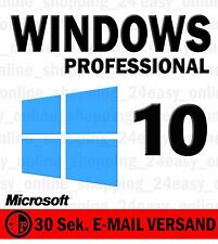 Windows 10 Professional Vollversion Win 10 Pro 32 / 64 OEM KEY Lizenzschlüssel