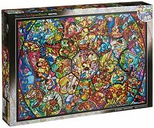 Tenyo Disney Art Jigsaw Puzzle1000pcs  All Stars Stained Glass DS-1000-764