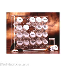 NEW PRODYNE ILLUSIONS 20 BOTTLE ACRYLIC SPICE RACK COOKING FOOD KITCHEN