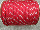 "3/8"" X 100' Halyard line,Jibsheets,16 strand boat,anchor line,Red/White USA,"