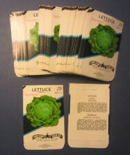 Wholesale Lot of 100 Old Vintage - LETTUCE - Iceberg - Vegetable SEED PACKETS