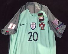 Portugal Quaresma Nike Vapor Edition Jersey With Euro 2016 Champions Patch