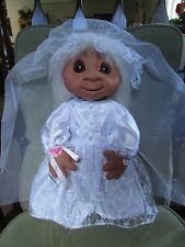 "GIANT BRIDE w/OUT HANG TAG -  17"" Dam Troll Doll -  NEW - LAST ONE"