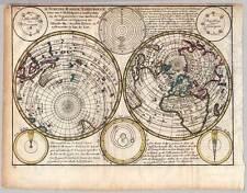 Weltkarte-Worldmap-World-Map - Kupfer-Karte J. Keizer - Jan de Lat 1747