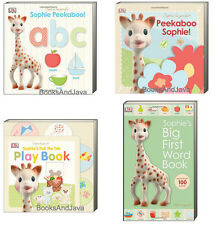 SOPHIE the GIRAFFE Peekaboo Sophie,Big First Word Book,abc,Pull Tab Play Book