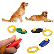 1x Pet Click Training Obedience Trainer Wrist Strap Clicker Aid for Dog Bird Cat