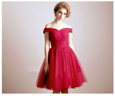 High Quality Elegant Off Shoulder Boat Neck Pleated Lace Up Cocktail DressITC528