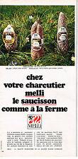 PUBLICITE ADVERTISING 064  1970  MELLI    saucisson charcuterie