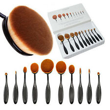 Pro 10pcs Toothbrush Shaped Foundation Power Makeup Oval Cream Puff Brushes