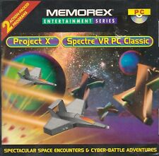 PROJECT X - SPECTRE VR PC (CD-ROM) 2 DOS Games, Brand New Factory Sealed