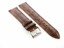 20MM GENUINE LEATHER STRAP BAND FOR ORIS WATCH LIGHT BROWN