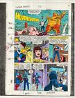 Original 1986 Marvel Comics Captain America 316 page 10 color guide art: 1980's