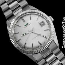 1980's GLYCINE Vintage Mens Rolex Datejust Style Watch - SS Steel & White Gold